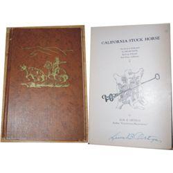 Luis Ortega signed book - Calif Stock Horse