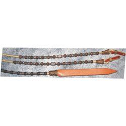 Hansen silver mounted rawhide roomel reins, like new