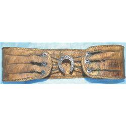 Unique rawhide early ladies belt