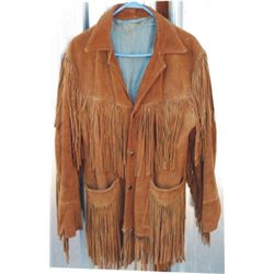 fringed 40-50's leather coat