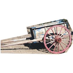 antique dump ox cart