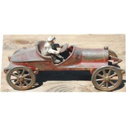 antique cast iron race car