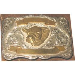 Visalia silver belt buckle