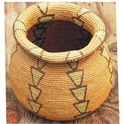 """Geometric basket, 11"""" diameter, early Alasken"""