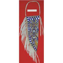 Santee Sioux style beaded knife sheath