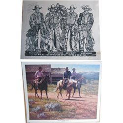 Signed Larry Butte and Bill Neal prints