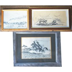 3 pieces, Carl Hamon & Mike Hanley art