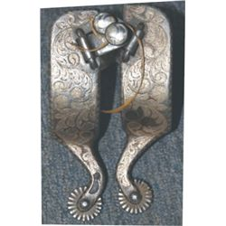 Garcia silver inlaid spurs