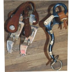Crockett silver mounted silver and bronc spurs