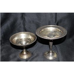 2 STERLING CANDY DISHES