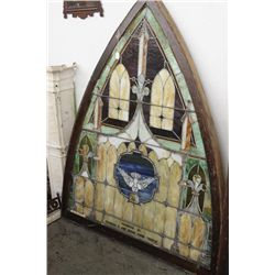 PICKUP ONLY - PRESENTATION WINDOW - BEAUTIFUL LEADED COLORS & CONDITION - FROM A CHURCH IN FONDA - 6