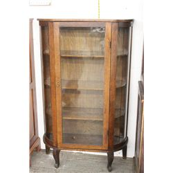 ROUND OAK CHINA FLAT DOOR - 3 SHELVES