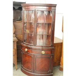 MAHOGANY DOUBLE DOOR CORNER CUPBOARD