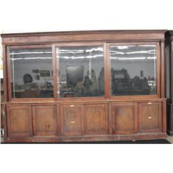 "GREAT STORE STORAGE AND DISPLAY UNIT IN WALNUT - 104"" LONG X 95"" HIGH"