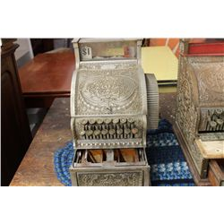 NATION BRASS CASH REGISTER - NEEDS KEY & MINOR WORK