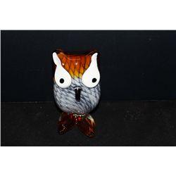 "ANN PRIMROSE ""OWL"" MURANO GLASS"