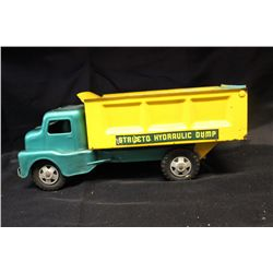 STRUCTO DUMP TRUCK - NEEDS PAINT - ALL SOLID - DENT FREE METAL - 12""