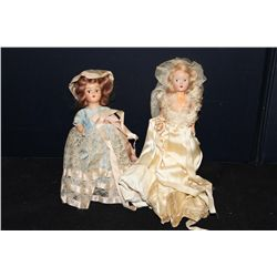 2 OLD COMPOSITION DOLLS