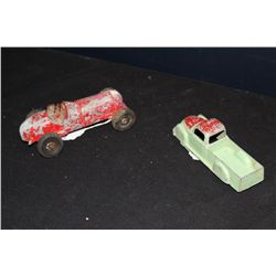 """METAL TRUCK BY EXCEL 6.5"""" - RACE CAR UNMARKED 7"""" - COMPLETE IN GOOD COND."""