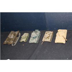 5 PLASTIC TANK MODELS - 1 MONEY