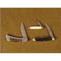 3 VINTAGE FULDING KNIVES - GERBER KUTMASTER  IMPERIAM