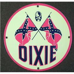 DIXIE CONFEDERATE ROUND HEAVY METAL SIGN PLAQUE