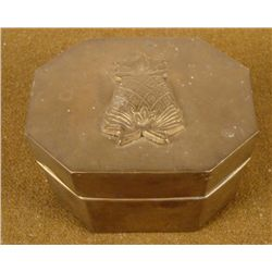 WWII PACIFIC THEATER BRASS CASE PINEAPPLE IN RELIEF