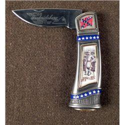 CIVIL WAR POCKET KNIFE ENGRAVED ROBERT E. LEE