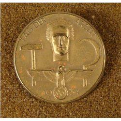 ORIGINAL NAZI TAG DER ARBEIT MEDAL 1934