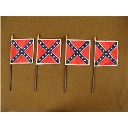FIVE VINTAGE CONFEDERATE FLAGS