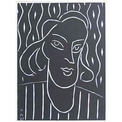 "Matisse ""Teeny"" Original Linocut"
