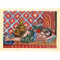 "Henri Matisse ""Odalisque Sur Fond Rouge"" Pochoir, 1929"
