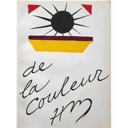 Henri Matisse  De La Couleur  Pochoir