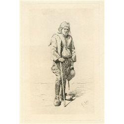 "Menpes ""A Breton Beggar"" Original Etching"