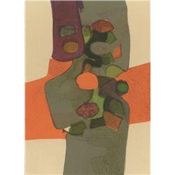 "Andre Minaux ""Automne"" Original Lithograph"