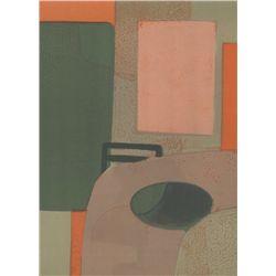 "Andre Minaux ""Interieur"" Original Lithograph"