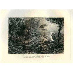 "Palmer ""Moeris And Galatea"" Eclogue 9 Original Etching"