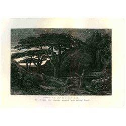 "Palmer ""The Cypress Grove"" Eclogue 5 Original Etching"