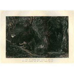 "Palmer ""The Sepulchre"" Eclogue 8 Original Etching"