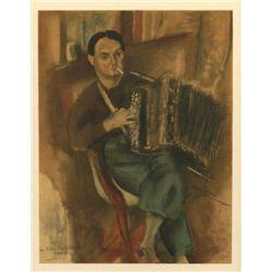 "Pascin ""Portrait De Pierre Mac Orlan"" Lithograph"