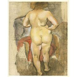 """Pascin """"Venus De Dos"""" Lithograph"""