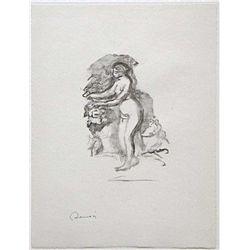 """Renoir """"Femme Au Cep De Vigne"""" Original Lithograph"""