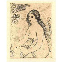 "Renoir ""Femme Nue Assise"" Original Etching"