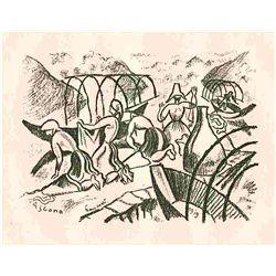 """Seewald """"Lago Maggiore"""" Original Lithograph"""