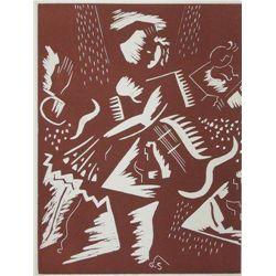 Gino Severini Original Linocut, 1939