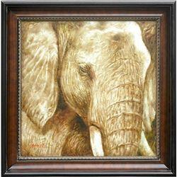 """ELEPHANT"" - ORIGINAL OIL ON CANVAS"
