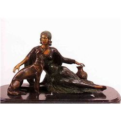 Nouveau Candeladurm  Bronze Sculpture - Chiparus