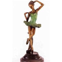 """Ballerina"" Bronze Sculpture - Fayral"