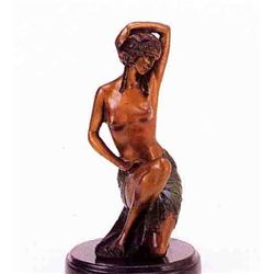 """Kneeling Nude"" Bronze Sculpture - Preiss"