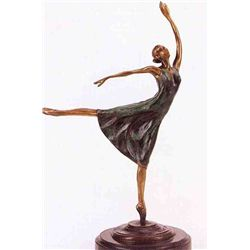 """Ballerina"" Bronze Sculpture - Degas"